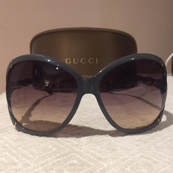 018686f9154e Gucci Accessories   Oversized Bamboo Sunglasses   Poshmark